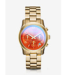 Runway Flash Lens Gold-Tone Watch
