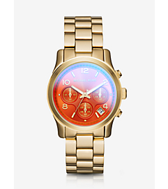 Runway Flash Lens Gold-Tone Watch by Michael Kors