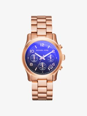 Runway Flash Lens Rose Gold-Tone Watch by Michael Kors