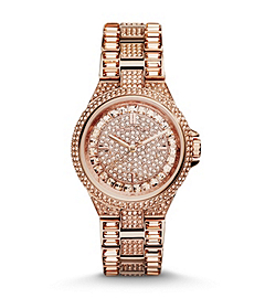 Mini Camille Embellished Rose Gold-Tone Stainless Steel Watch