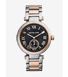 Skylar Silver and Rose Gold-Tone Bracelet Watch