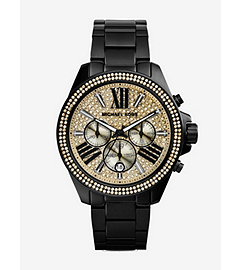Wren Pavé-Embellished Black Stainless Steel Watch