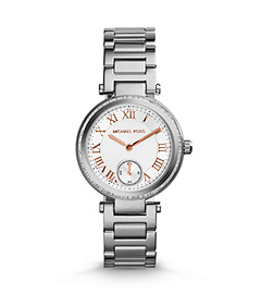 Skylar Silver-Tone Stainless Steel Bracelet Watch