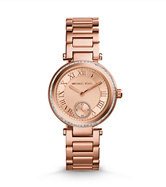 Skylar Rose Gold-Tone Stainless Steel Bracelet Watch