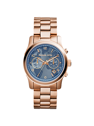 Watch Hunger Stop Runway Rose Gold-Tone Watch by Michael Kors