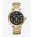 Skylar Black and Gold-Tone Stainless Steel Bracelet Watch