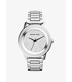 Kinley Pavé-Embellished Silver-Tone Stainless Steel Watch