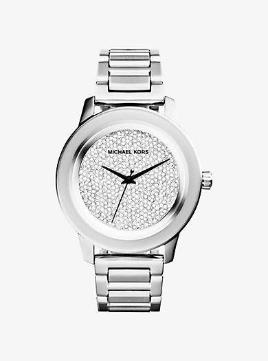 Kinley Pavé Silver-Tone Watch by Michael Kors