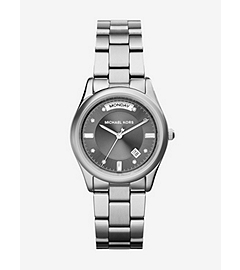 Colette Silver-Tone Stainless Steel Bracelet Watch