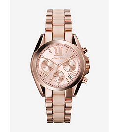 Mini Bradshaw Acetate and Rose Gold-Tone Stainless Steel Watch