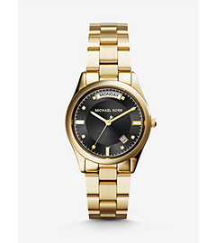 Colette Onyx and Gold-Tone Stainless Steel Watch