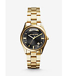 Colette Onyx and Gold-Tone Watch