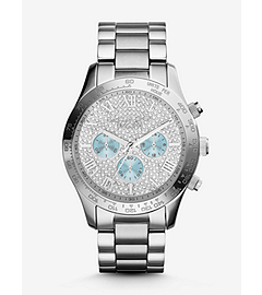 Layton Pavé-Embellished Silver-Tone Stainless Steel Watch
