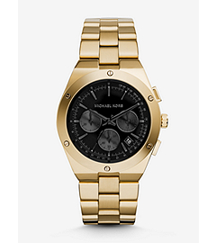 Reagan Onyx and Gold-Tone Stainless Steel Watch