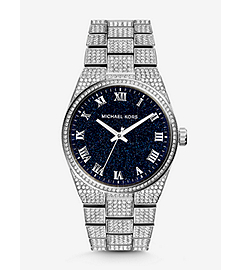 Channing Onyx and Silver-Tone Stainless Steel Watch