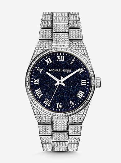 Channing Moonstone and Silver-Tone Watch by Michael Kors