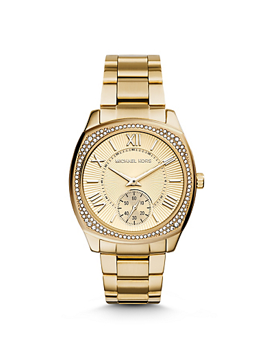Bryn Gold-Tone Watch by Michael Kors