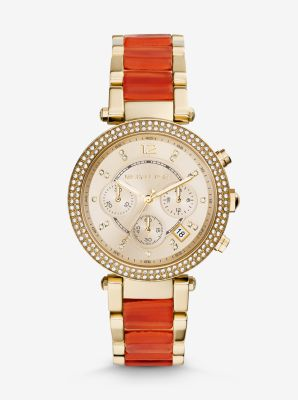 Parker Gold-Tone Acetate Watch by Michael Kors