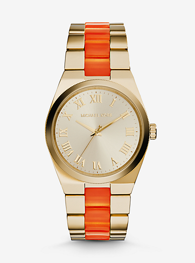 Channing Gold-Tone Acetate Watch by Michael Kors