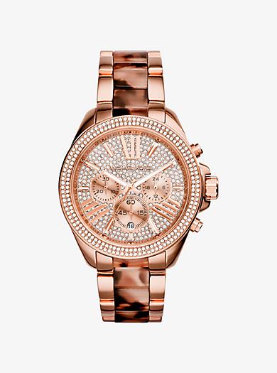 Wren Rose Gold-Tone Acetate Watch by Michael Kors