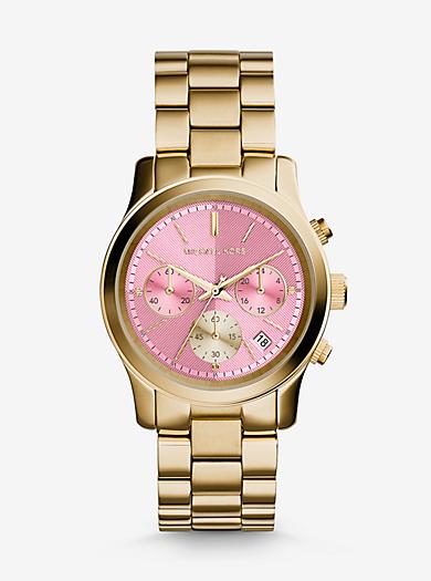 Runway Gold-Tone Watch by Michael Kors