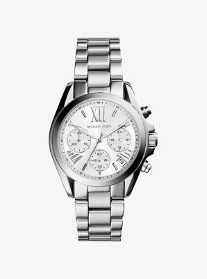 마이클 코어스 메탈 시계 Michael Kors Mini Bradshaw Silver-Tone Watch,SILVER
