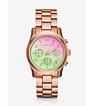 Runway Flash Lens Rose Gold-Tone Watch