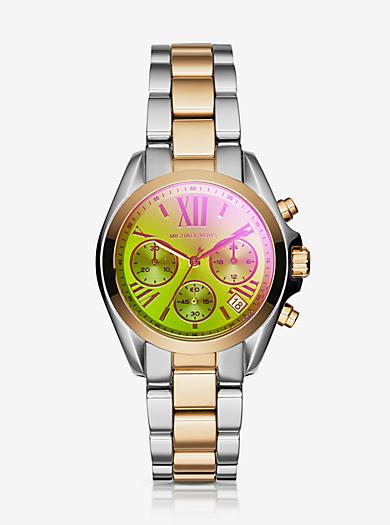Bradshaw Flash-Lens Two-Tone Watch by Michael Kors