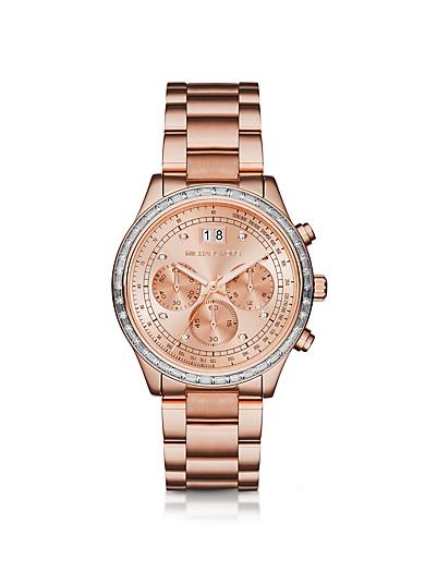 Brinkley Pavé Rose Gold-Tone Watch by Michael Kors