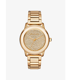 Kinley Pavé Gold-Tone Watch by Michael Kors