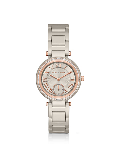 Mini Skylar Rose Gold-Tone and Ceramic Watch by Michael Kors