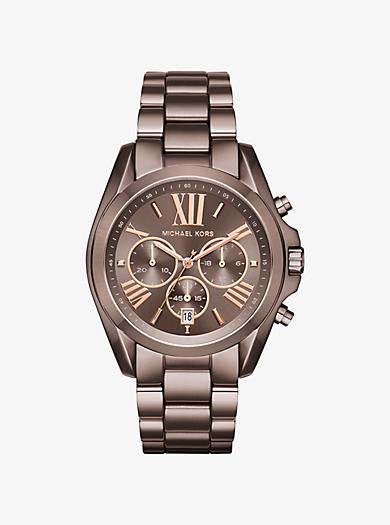 Oversized Bradshaw Sable-Tone Watch by Michael Kors