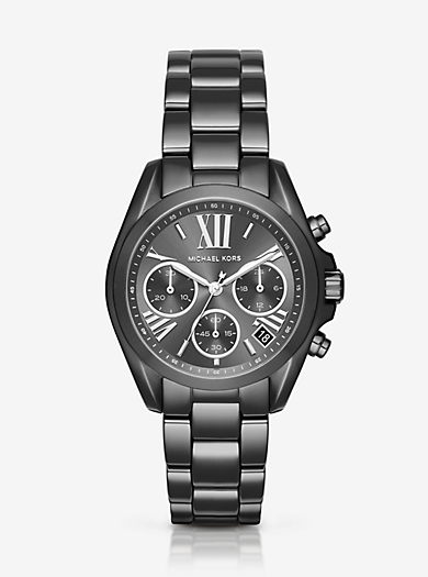 Mini Bradshaw Gunmetal-Tone Watch by Michael Kors