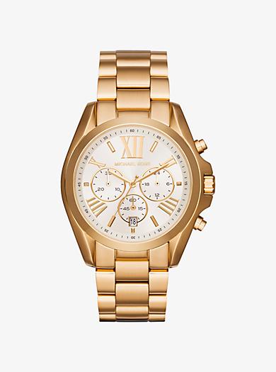 Übergroße Armbanduhr Bradshaw im Goldton by Michael Kors