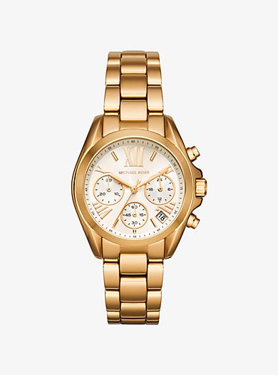 Mini Bradshaw Gold-Tone Watch by Michael Kors