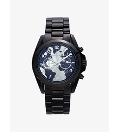 Watch Hunger Stop Oversized Bradshaw 100 Black-Tone Watch by Michael Kors