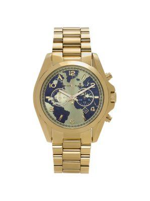 Michael Kors Watch Hunger Stop Oversized Bradshaw 100 Gold-Tone Watch,GOLD