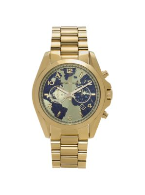 Watch Hunger Stop Oversized Bradshaw 100 Gold-Tone Watch by Michael Kors