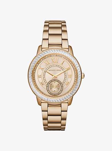 Madelyn Pavé Gold-Tone Watch  by Michael Kors