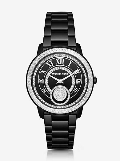 Madelyn Pavé Black-Tone Watch  by Michael Kors