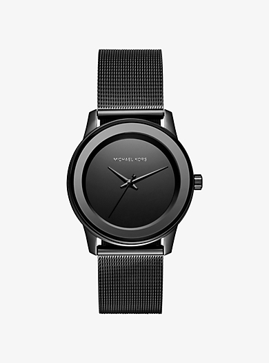 Kinley Black-Tone Watch  by Michael Kors