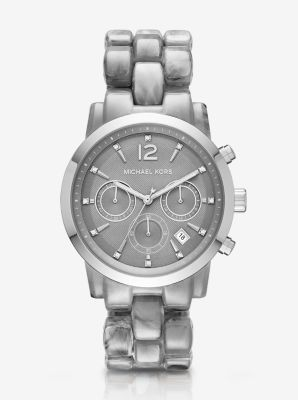 Oversize Audrina Gunmetal-Tone Watch by Michael Kors