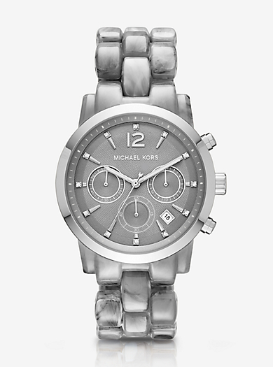 Oversize Audrina Gunmetal-Tone Watch by Michael Kors