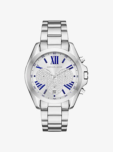 Bradshaw Pavé Silver-Tone Watch by Michael Kors