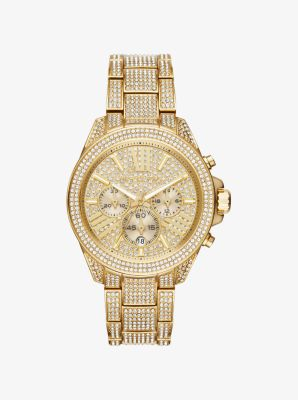 마이클 코어스 메탈 시계 Michael Kors Wren Pavé Gold-Tone Watch,GOLD