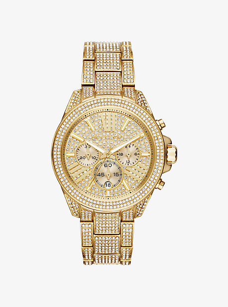 Wren Pave Gold-Tone Watch