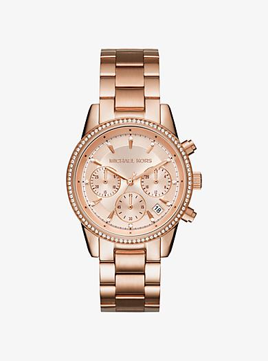 Ritz Rose Gold-Tone Watch by Michael Kors