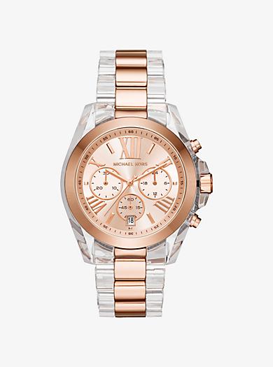 Oversized Bradshaw Two-Tone Watch by Michael Kors
