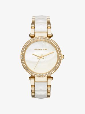 Parker Gold-Tone and Acetate Watch by Michael Kors
