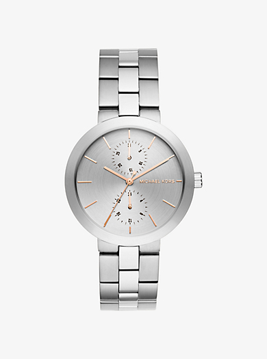 Garner Silver-Tone Watch by Michael Kors